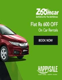 Flat Rs 600 OFF On Zoomcar Rental