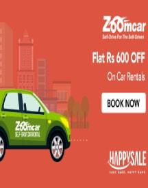 Zoomcar Chennai Offer - Flat Rs 600 OFF On Car Rentals