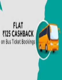 Flat Rs 125 Cashback On Bus Ticket Bookings