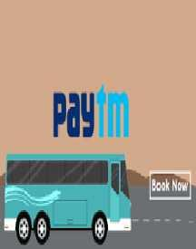 Extra 10% Cashback On Bus Bookings Via Paytm Wallet