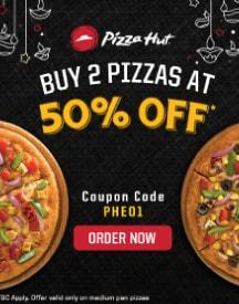Dominos Chennai: Flat 50% OFF On Order Of 2 Pizzas