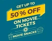 Flat Rs 50 OFF On All Movie Tickets (All Users)