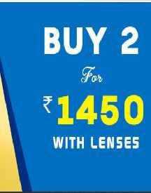 Buy 2 Eye Glasses For Just Rs 1450 With Lenses