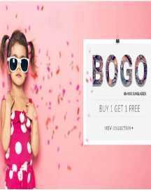 BOGO On Kids Sunglasses: Buy 1 Get 1 Free