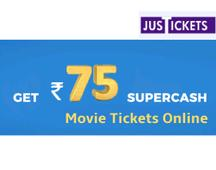 Rs 75 SuperCash On Movie Bookings Online