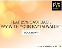 Flat 25% Cashback On Movie Tickets With Paytm Wallet
