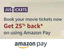25% Amazon Pay Balance Cashback On Movie Tickets
