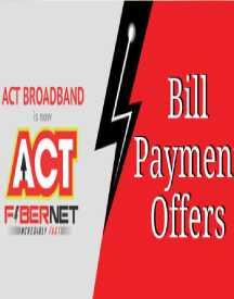 Flat Rs 30 Cashback on ACT Broadband bill payment of Rs 500 or more