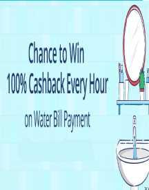 Win 100% Cashback On Water Bill Payments - All Users