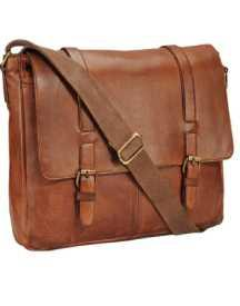 TeakwoodTan Leather Laptop Bag @ 75% OFF
