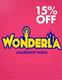 Get Flat 15% Cashback on Wonderla Tickets
