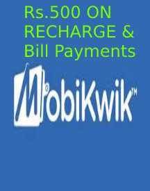 Save up to Rs 500 on Recharge & Bill Payment