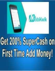 Get 200 SuperCash on First Time Add Money