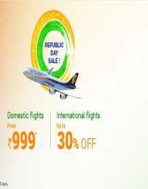 Up To 30% OFF On Domestic & International Flights