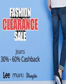 Fashion Clearance Sale - 30% Cashback for All Users