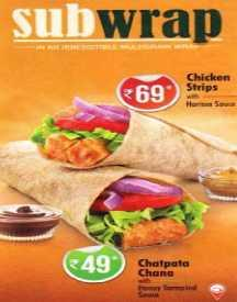 Chatpata Chana Sub Wrap @ Lowest Price