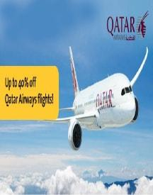 Save Up To 40% On Travelling Through Qatar Airways