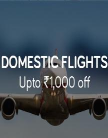 Domestic Flight Offer: Flat Rs 1000 OFF