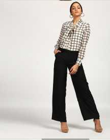 Checkered Franklin Pussy Bow Jumpsuit