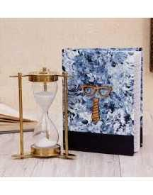 Brass Hourglass & Hand-Crafted Diary Hamper