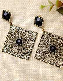 Beautiful Black-Gold Earrings