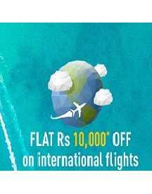 Get Upto Rs 10,000 OFF On International Flight Booking