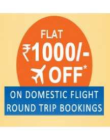 Musafir Happy Hours : Flat Rs 1000 OFF on Domestic flights