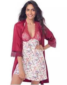 Satin Halter Nightdress & Wrap