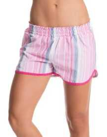 Pink Lurex Striped Shorts