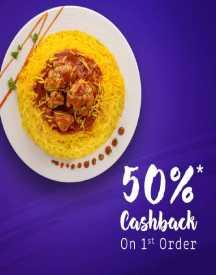 Flat 50% Cashback On Food Orders