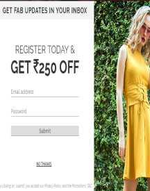 Flat Rs 250 OFF On FabAlley Registration