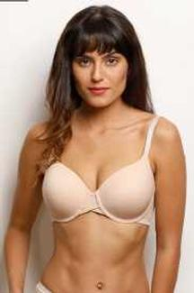Zivame Glitter Straps Radiance Smooth Padded Wired T-Shirt Bra- Skin