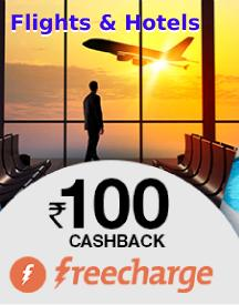 Grab Rs.100 cashback on Cleartrip Local experiences, Flights & Hotels with Freecharge