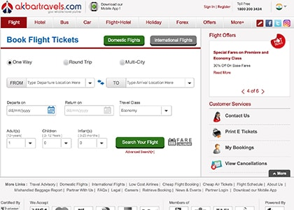 Akbar Travels Promo Codes | Coupons | Offers