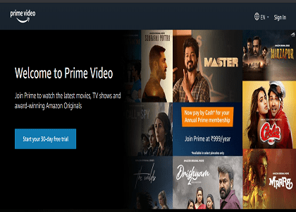 Amazon Prime Video Coupons & Offers → FREE Trial Promo Codes