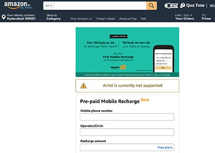 Amazon Recharge Promo Codes | Coupons | Offers