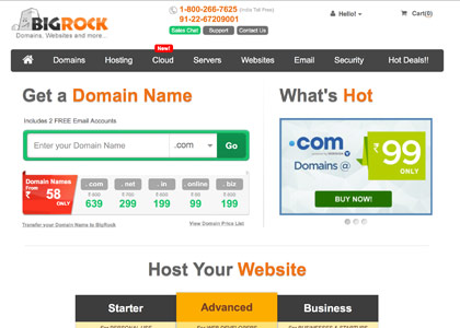BigRock Promo Codes | Coupons | Offers