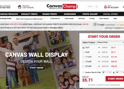 CanvasChamp Promo Codes | Coupons | Offers