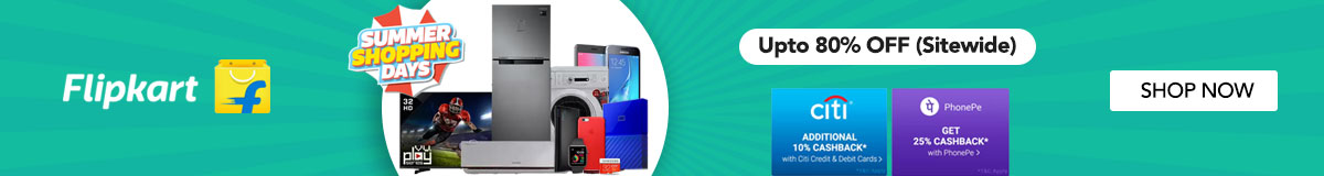 Flipkart Summer Shopping Days Coupons