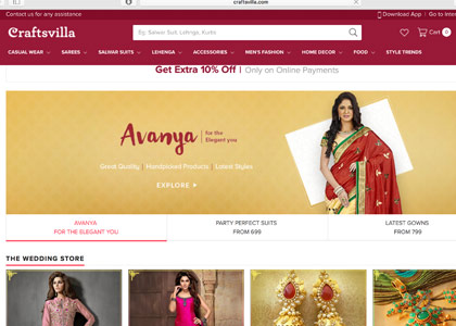 Craftsvilla Promo Codes | Coupons | Offers