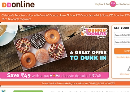 Dunkin Donuts Promo Codes | Coupons | Offers
