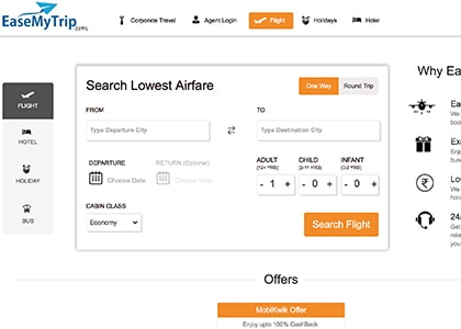 EaseMyTrip Promo Codes | Coupons | Offers