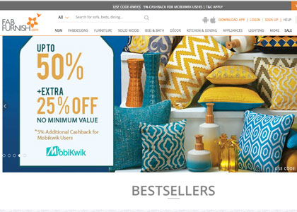 FabFurnish Promo Codes   Coupons   Offers