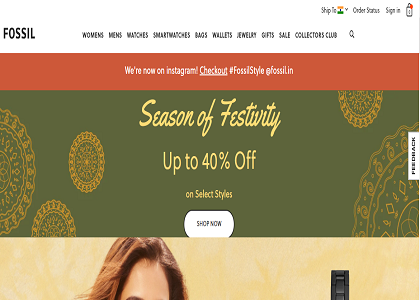 Fossil Promo Codes | Coupons | Offers