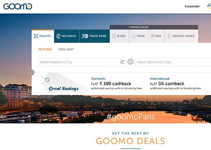 Goomo Promo Codes | Coupons | Offers