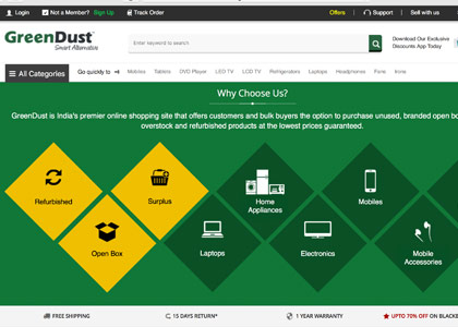 GreenDust Promo Codes | Coupons | Offers