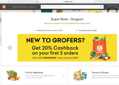 Grofers Promo Codes | Coupons | Offers