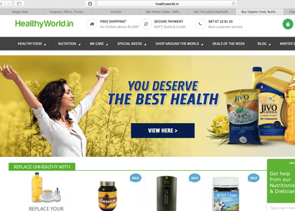 HealthyWorld Promo Codes | Coupons | Offers