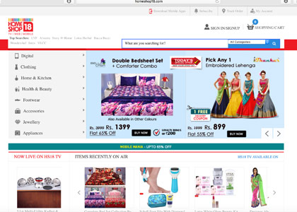 HomeShop18 Promo Codes | Coupons | Offers