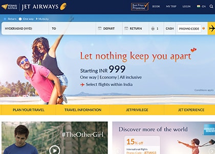 Jet Airways Promo Codes | Coupons | Offers